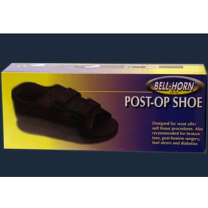 Bell Horn Female Post-Op Shoe, Small Black, 1 ea, #81143