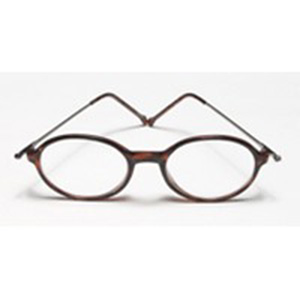 Read Eyeglass Frame Size : Reading Glasses 1.25 power Oval Metal Plastic Case with ...