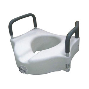Raised Toilet Seat W Lock Amp Padded Removable Arms Retail