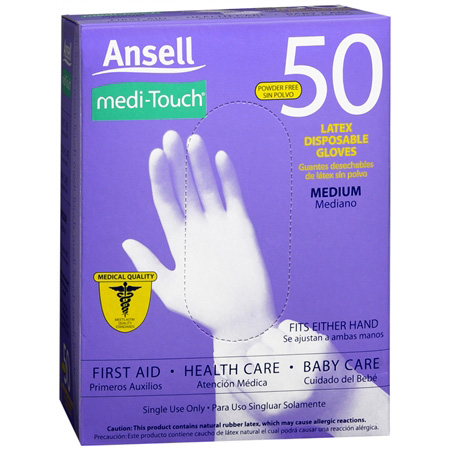 Medi touch latex gloves