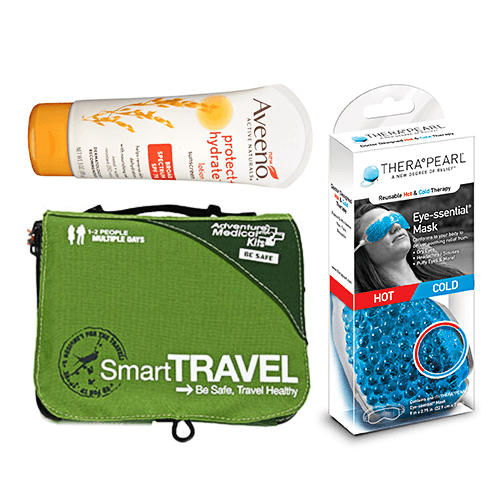 Travel Essentials Product Collage